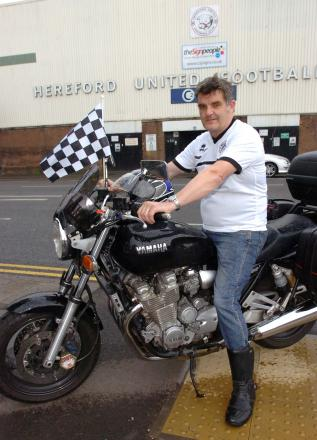 Ian Whale will be riding to every Premier League ground to raise money for Hereford United. (6395569)