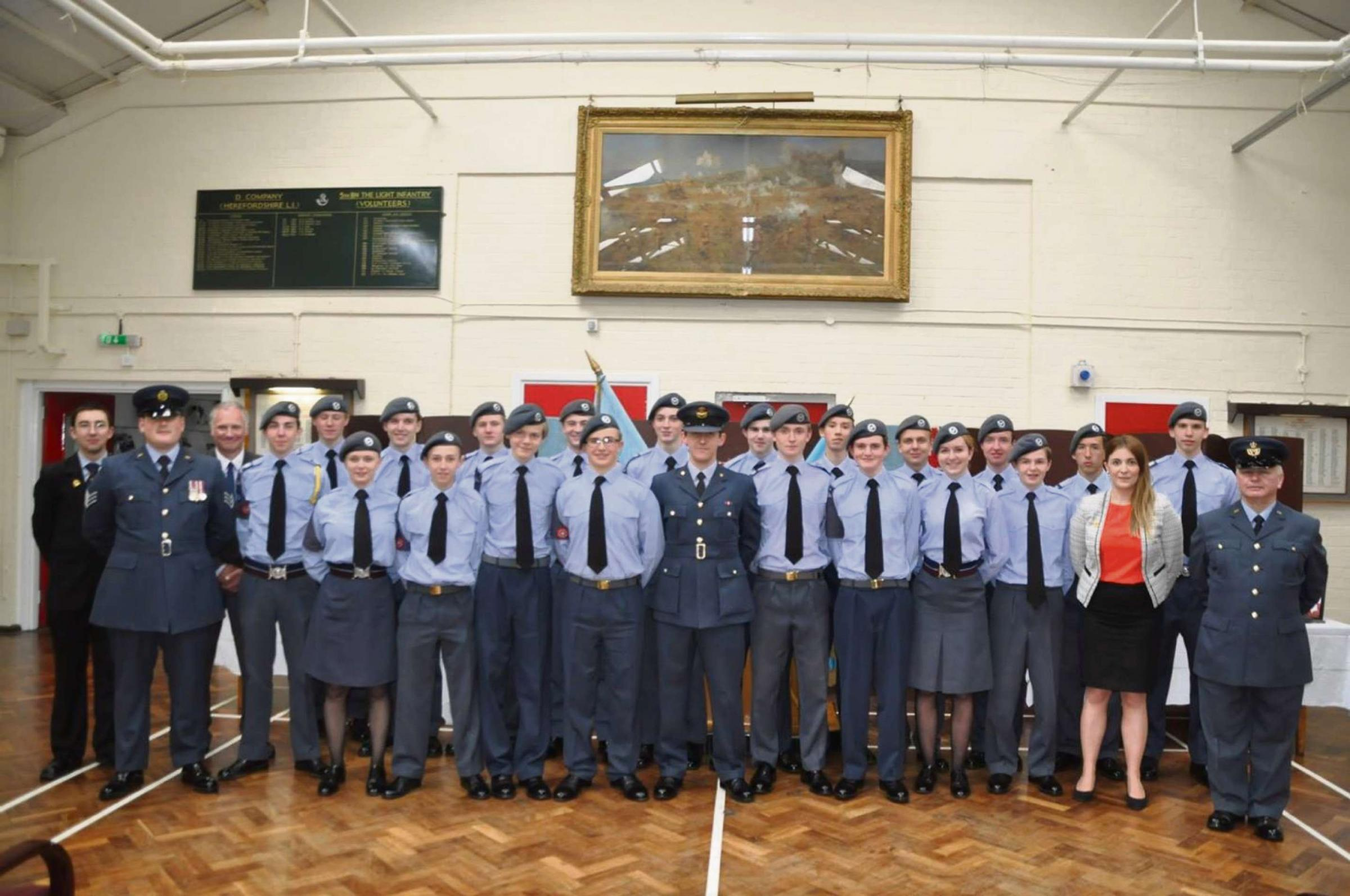 Hereford Air Cadets celebrated the squadron's 75th anniversary last month.