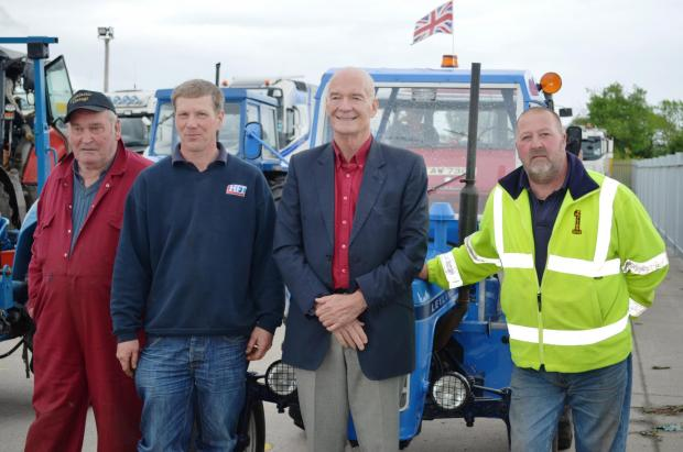 Hereford Times: Alan Bayliss, Steven Whittall, Mark Wilkins, and Stephen Newman organised the tractor run. Pictures by Alison Wozencroft.