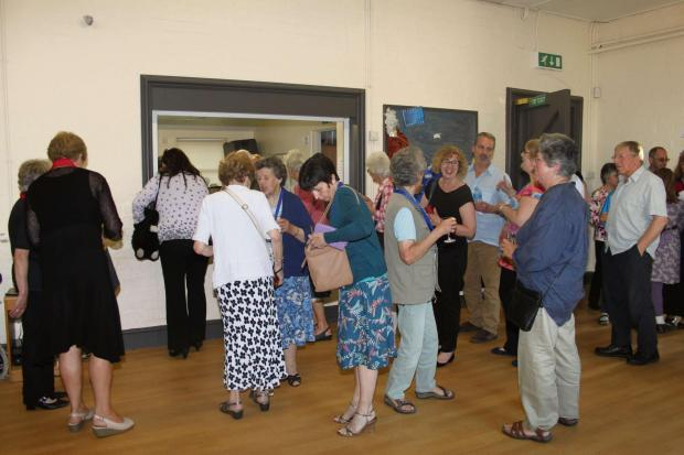 Former pupils gather at Mordiford School reunion.