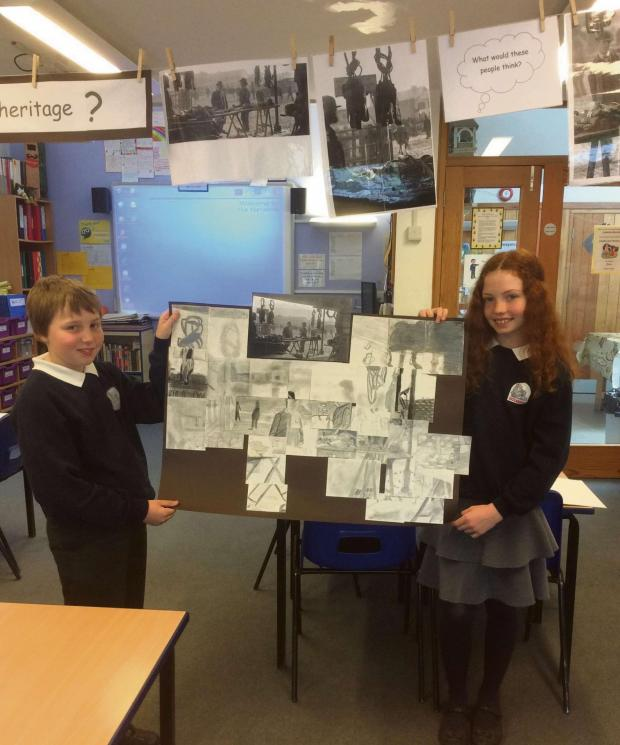 Hereford Times: Pupils working on the project.