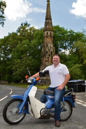 Steve Davies is embarking on a charity motorbike ride in aid of Hereford County Hospital Children's Ward.