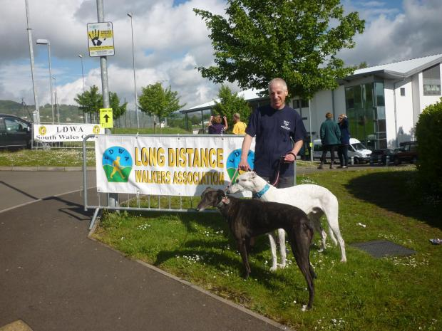 Dave Podmore raised £1,200 for Greyhound Rescue West of England.