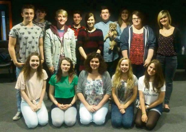 Hereford Times: Melissa Price, back centre, with the cast of Circle of Life.