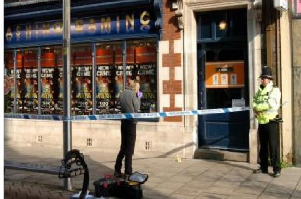Hereford Times: Chasino Gaming was cordoned off following the inci