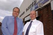 From left: Jon Hale and Chris Williams, who are behind a group looking to create a phoenix club should Hereford United liquidate.