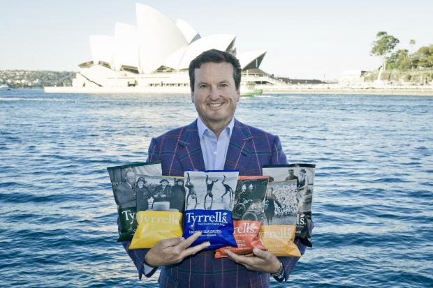 Hereford Times: David Milner, CEO of Tyrrells, in Australia. It is the Herefordshire-based business' latest international expansion.