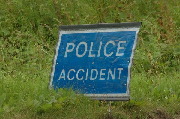 A moped was in collision with a car in Ross-on-Wye today.