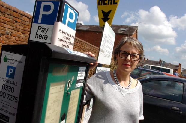 Hereford Times: Angela Siemieniuk says motorists are 'constantly being hammered' (7730626)Photo: James Maggs.