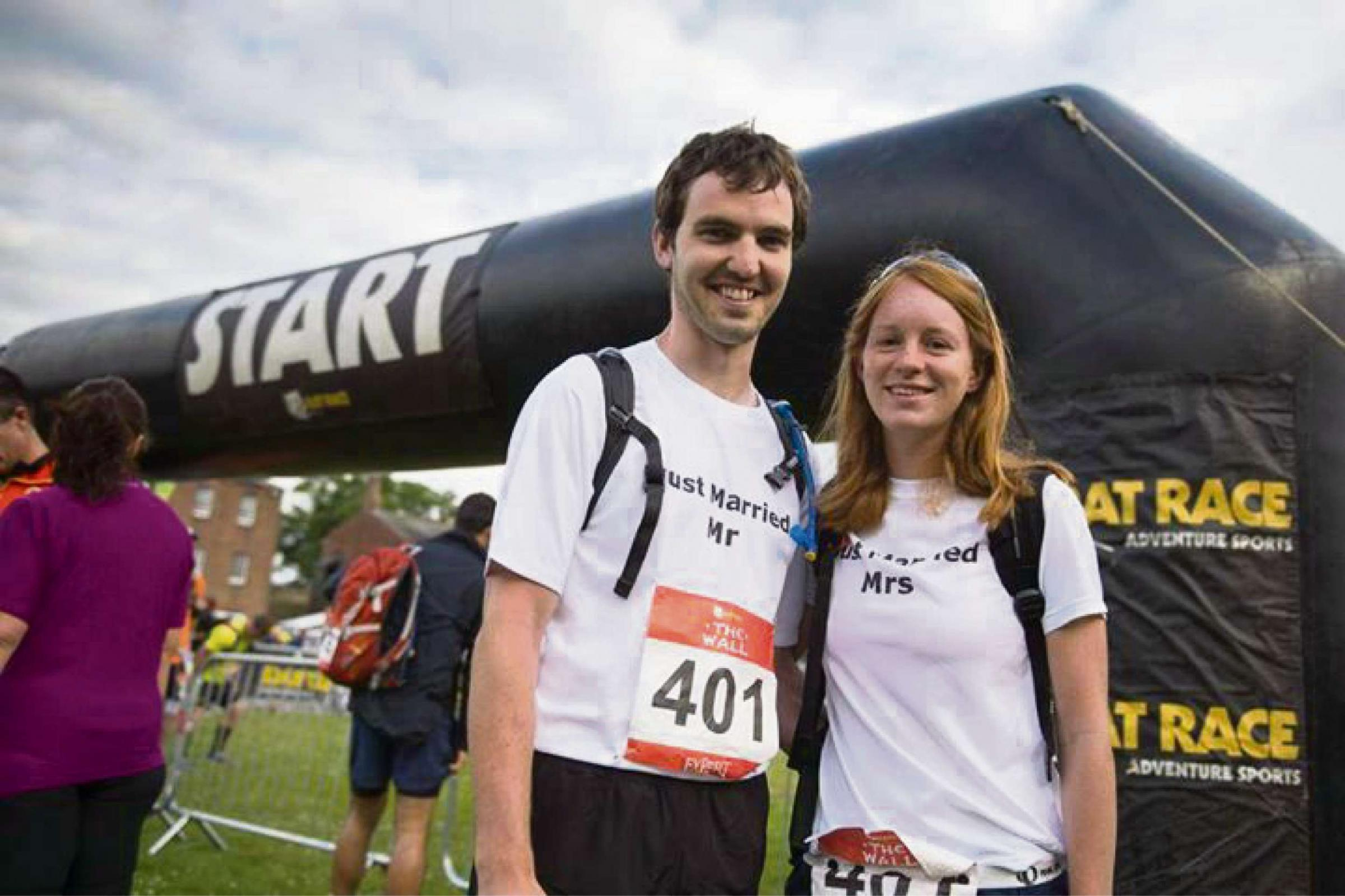 The Wall: Couple's honeymoon ultra-marathon fundraising