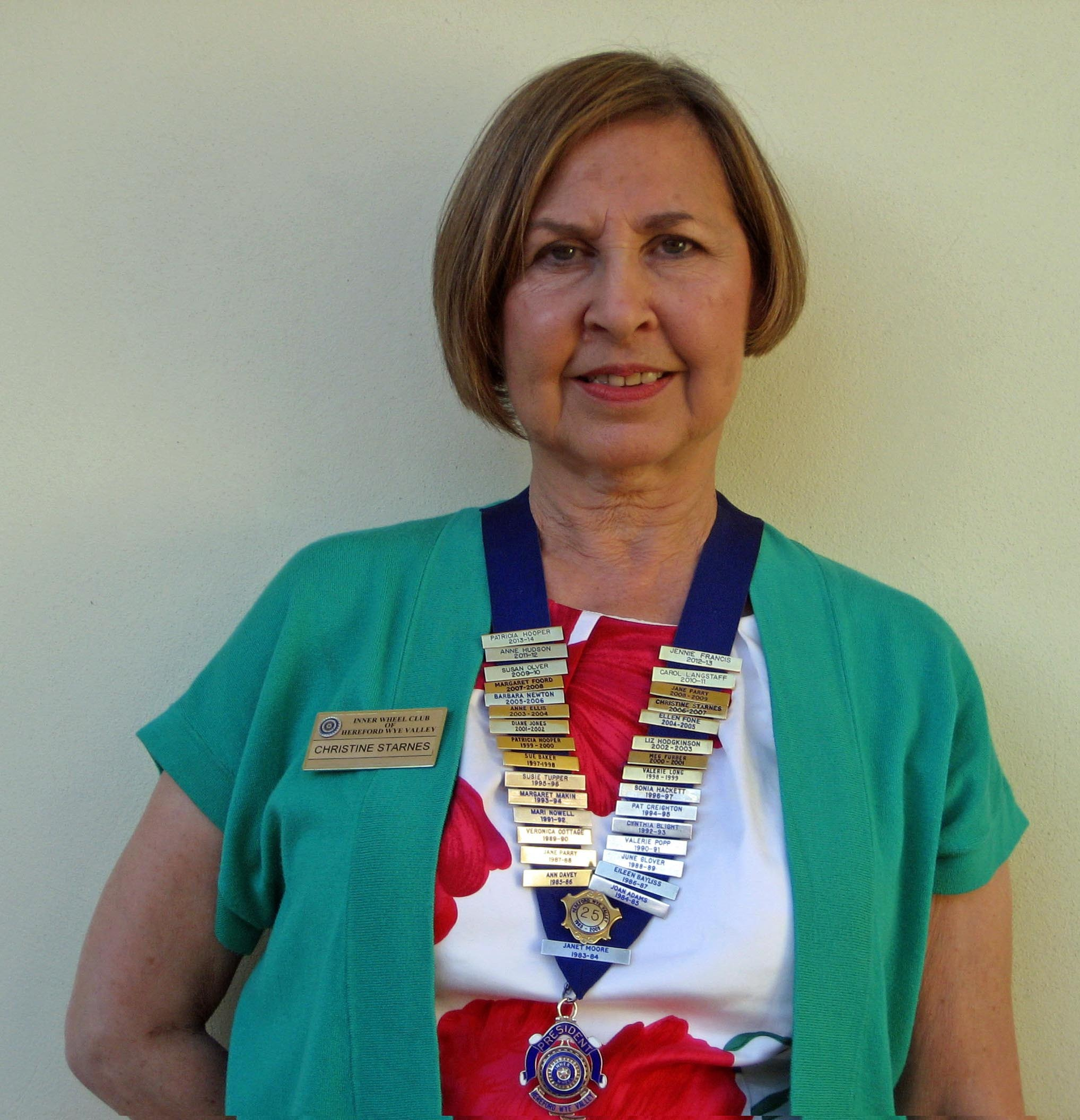 Christine Starnes is the new president of the Inner Wheel Club of Hereford Wye Valley.