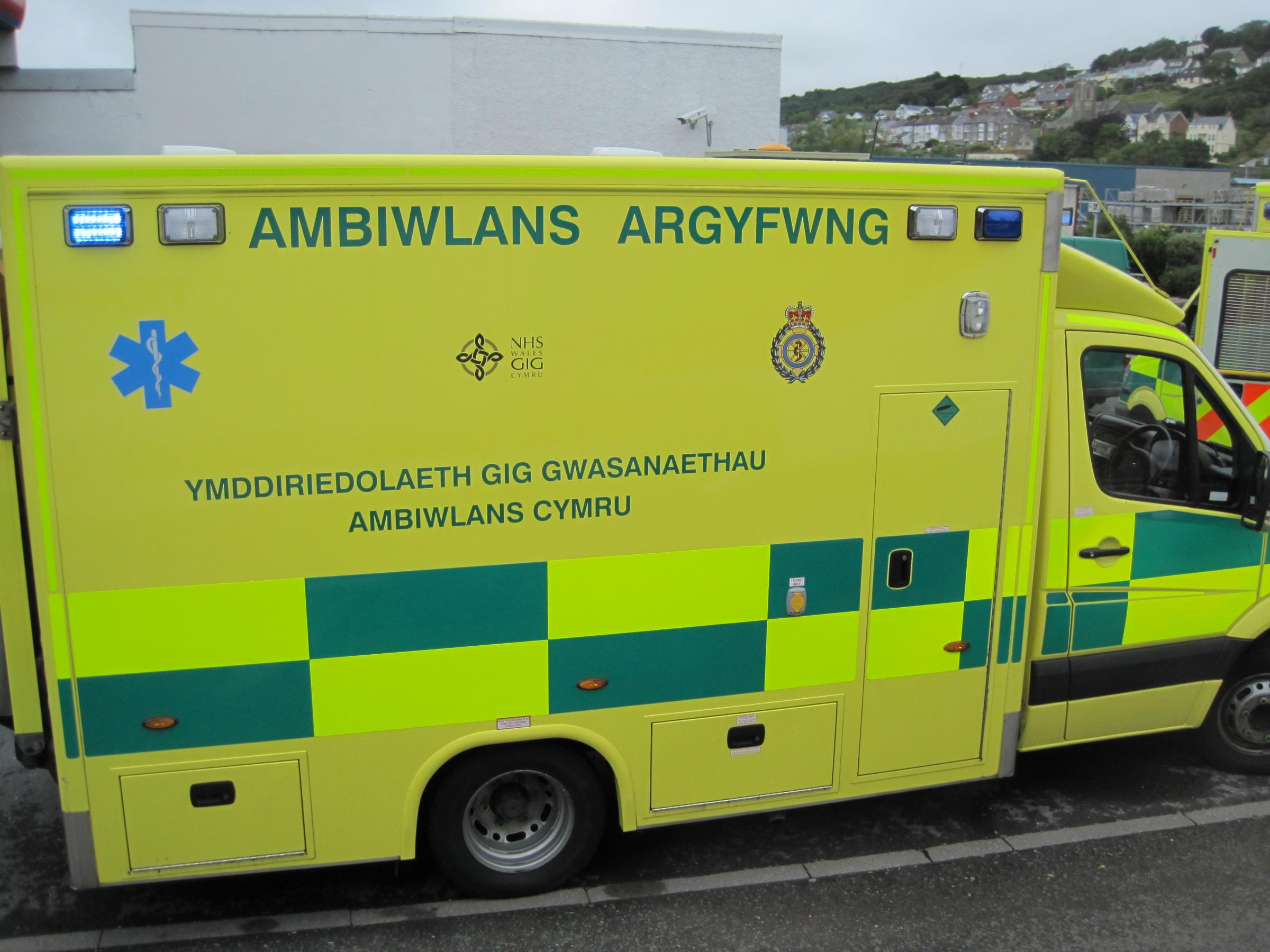 An ambulance crew was called to Wellington this afternoon.