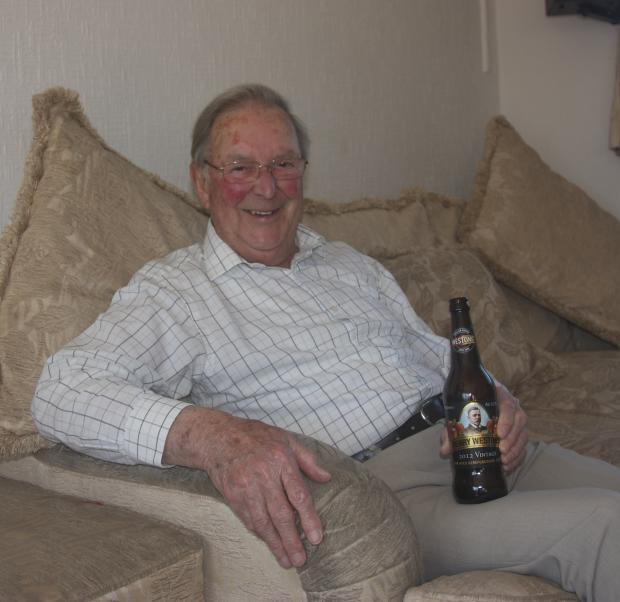 Peter Hardee, who will release a book of his life after winning a competition run by Much Marcle-based Westons Cider.