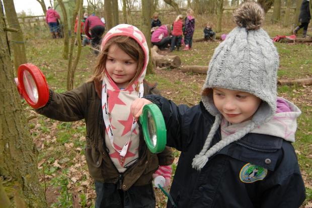 Hereford Times: Stoke Prior pupils practice bushcraft