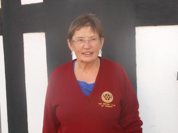 The latest member of Ledbury Rotary Club - former town mayor, Mary Cooper.