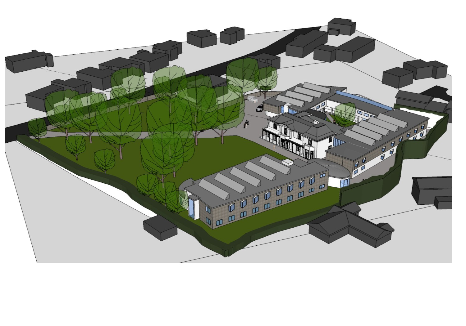 An artist's impression of what Elmhurst Nursing Home could look like.