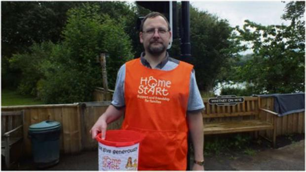 Mark Pryde from Halifax fundraising on the day.