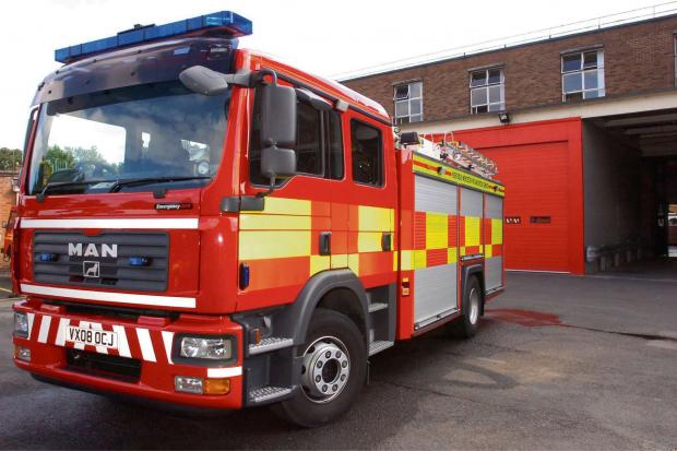 Fire crews were called to tackle a lorry with a blown engine on the A40 last night.