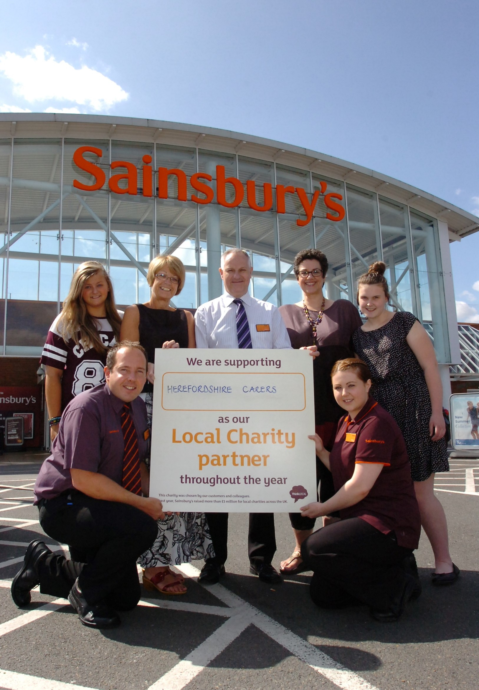 Sainsbury's Hereford unveils its charity of the year for 2014-15