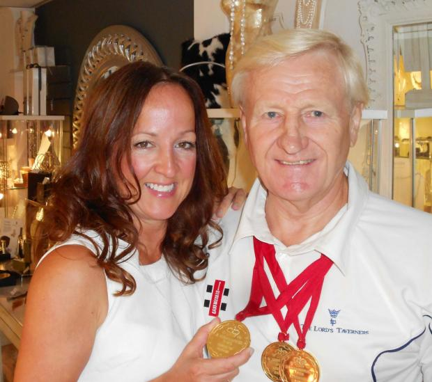 TRIPLE GOLD: Commonwealth Games Badminton star, Mike Tredgett, and his step-daughter, Jules Schad of the Juice Boutique.