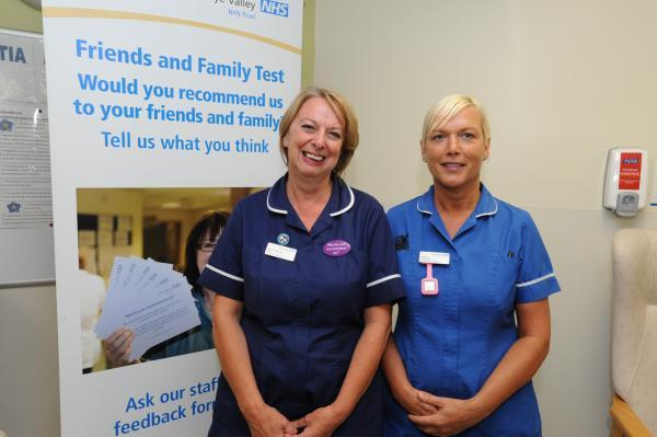 Sister Jenny Weaver and Junior Sister Sharon Valentine will be welcoming more staff to the A&E department at Hereford County Hospital.