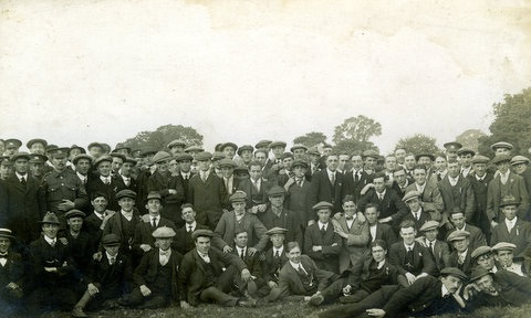 August 1914: Young men enlist on Hereford's Castle Green