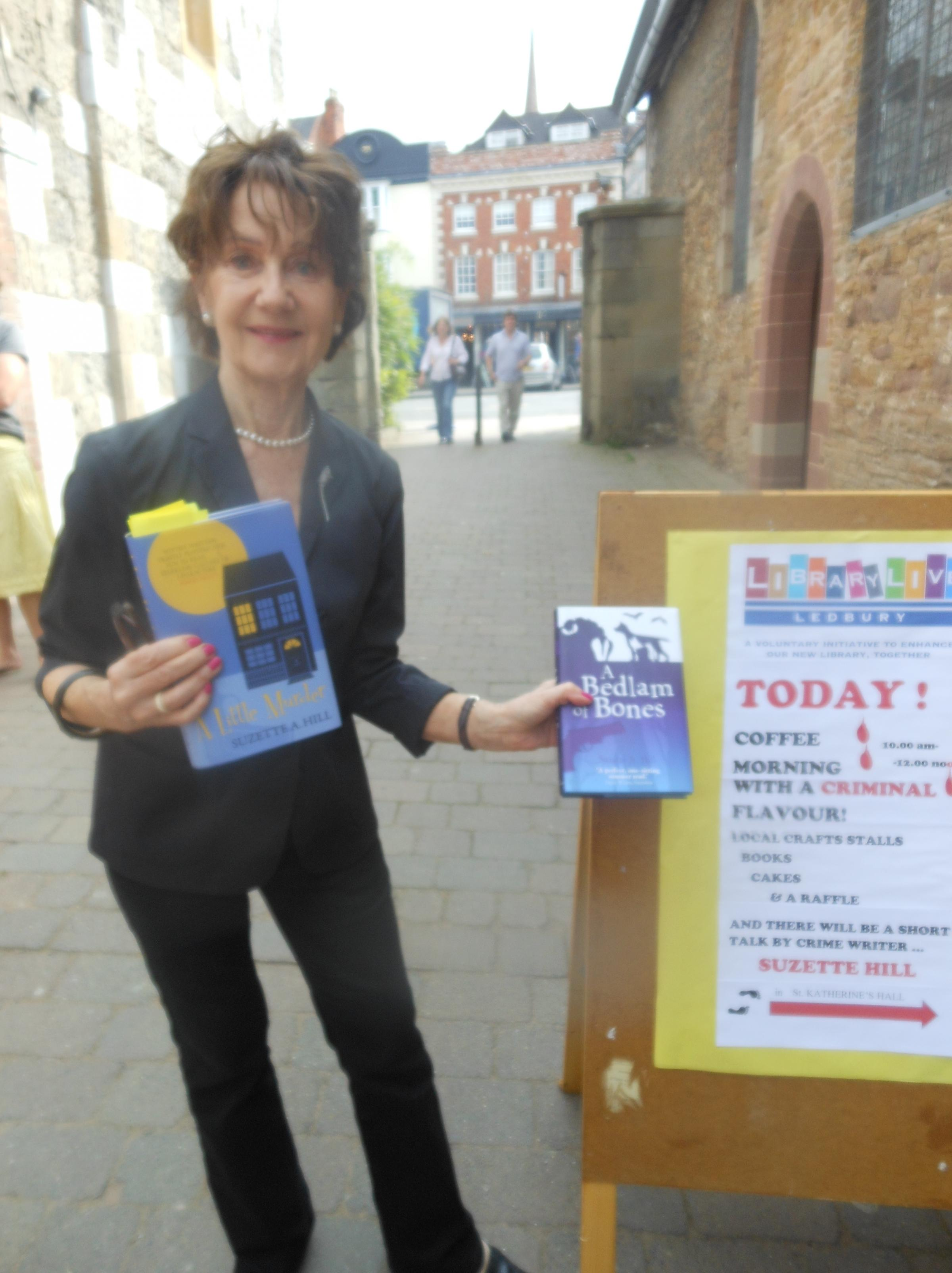 SUPPORTING THE WRITTEN WORD: Ledbury's crime novelist, Suzette Hill.