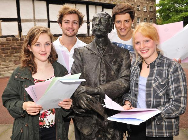 ELGAR'S KEEPING QUIET: But Cathedral School students have plenty to smile about.