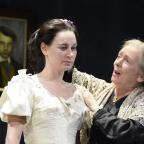 Hereford Times: Pippa Nixon as Thérèse Raquin with Alison Steadman as Madame Raquin. Picture by Nobby Clark.