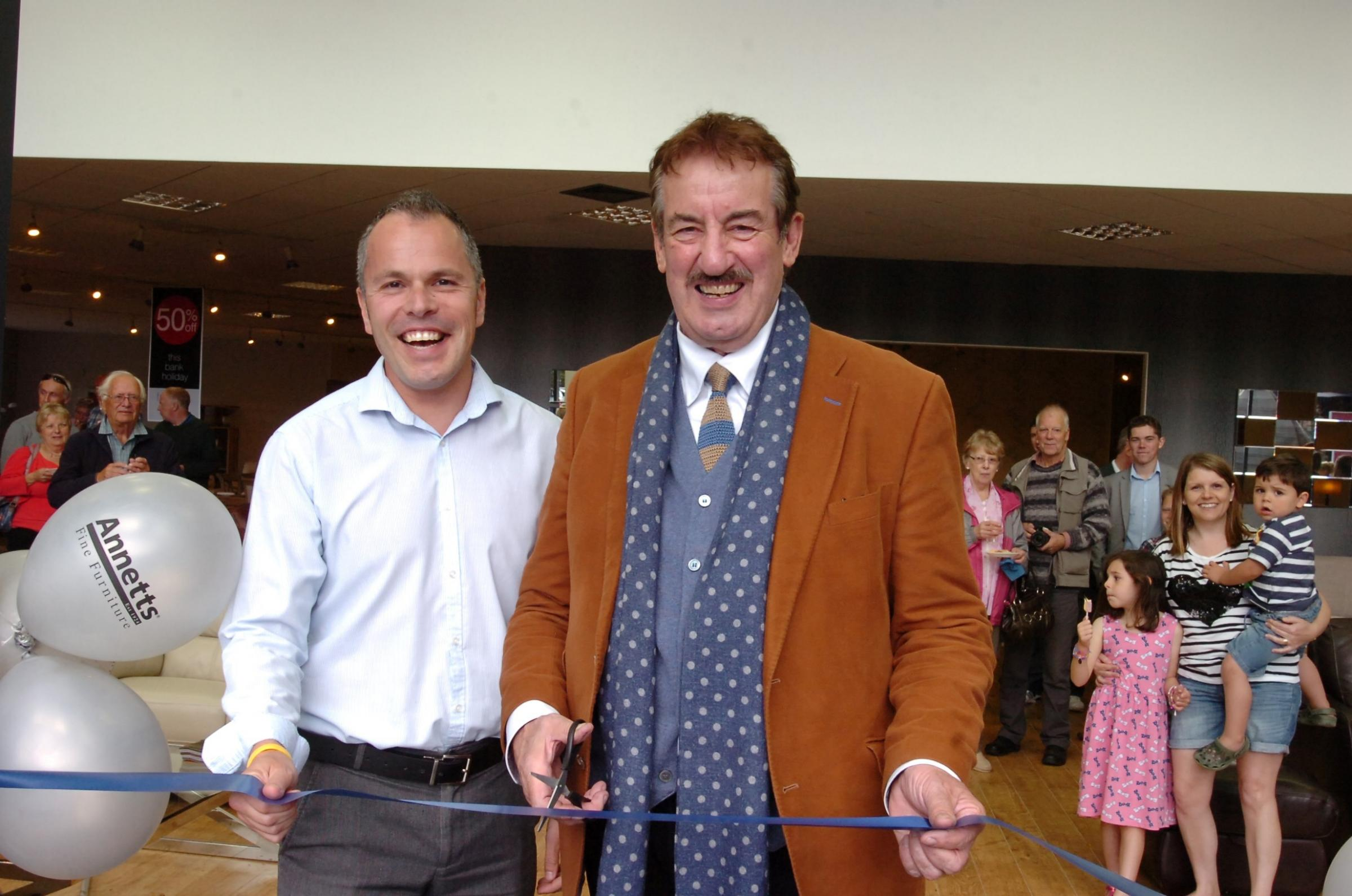 Only Fools and Horses star John Challis opens refurbished Hereford furniture store