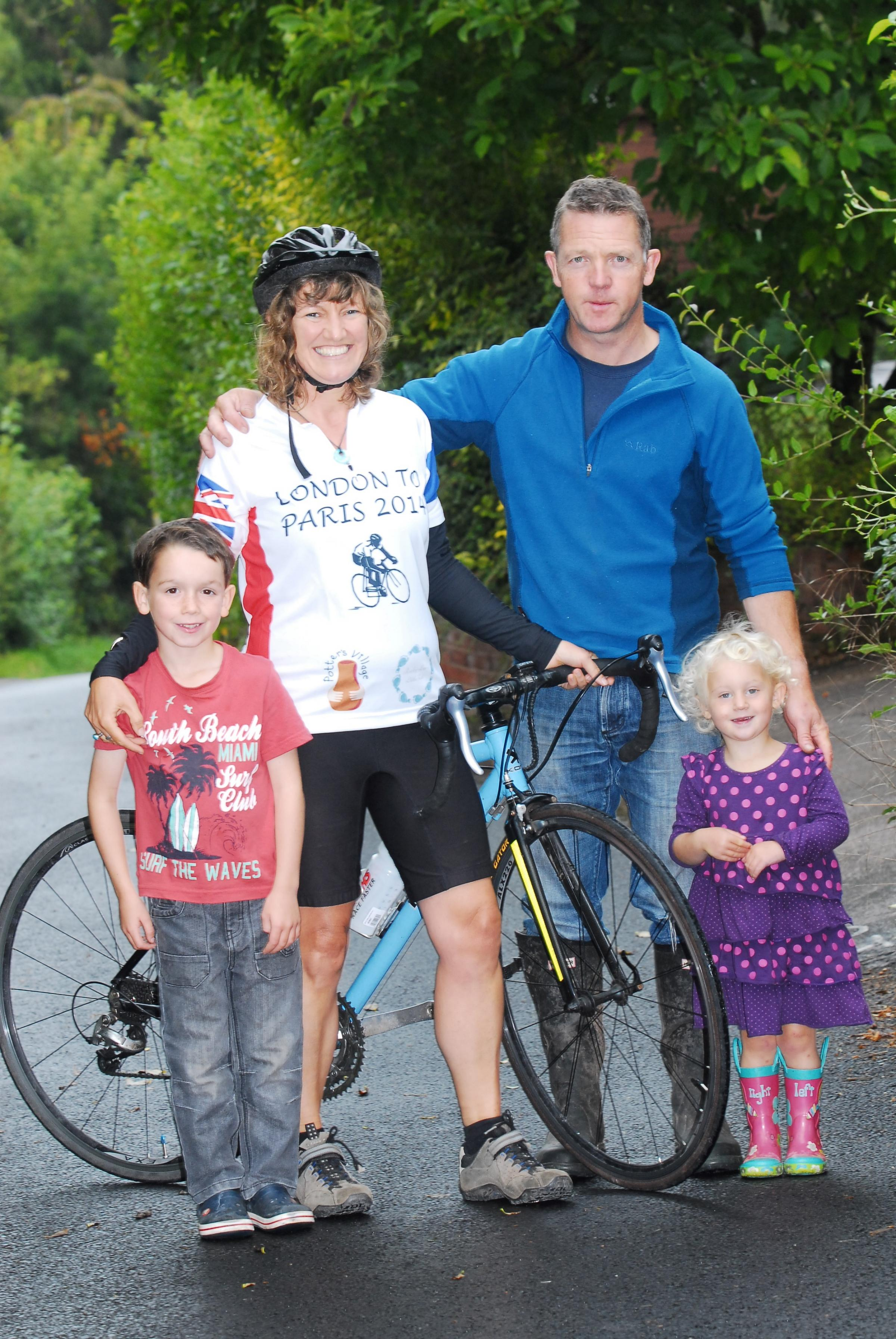 Herefordshire mum to cycle from London to Paris in charity fundraising bid