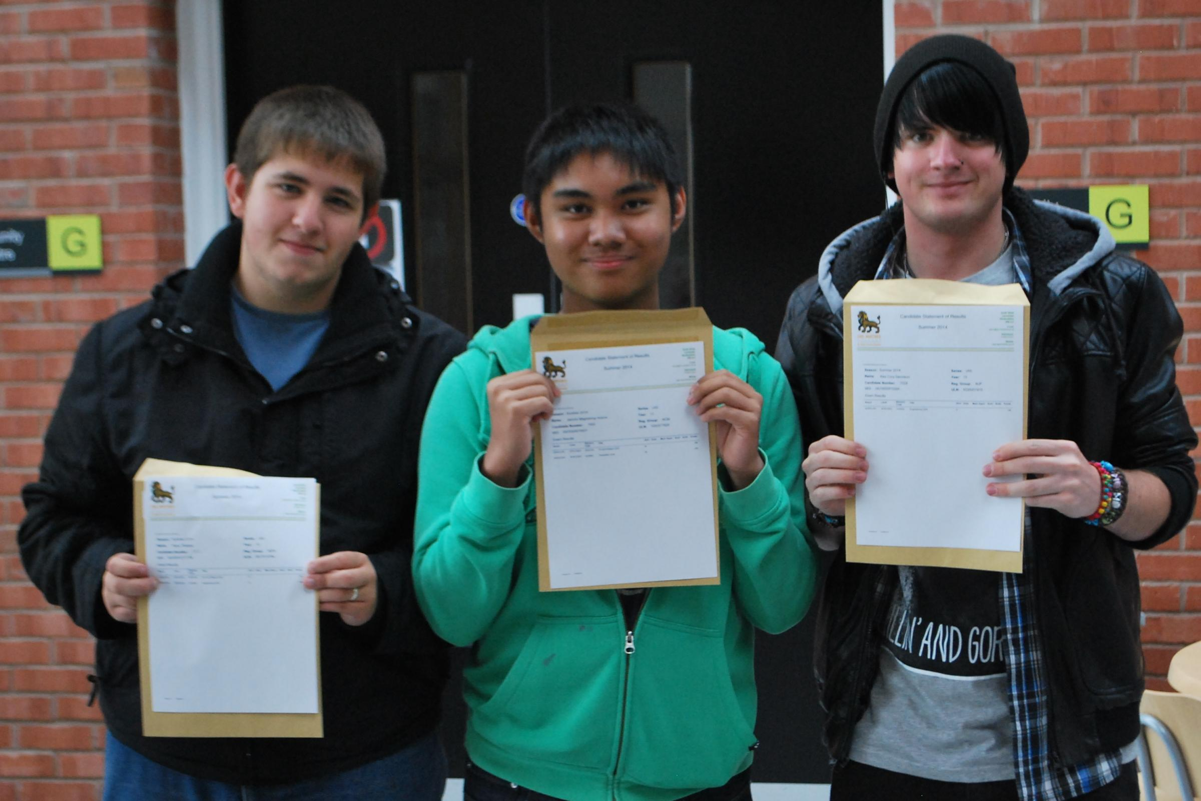 Earl Mortimer College celebrate successful set of results