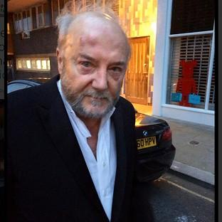 George Galloway on his way to