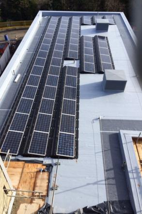 The new solar array at Leominster Primary School. Photo: Caplor Energy.