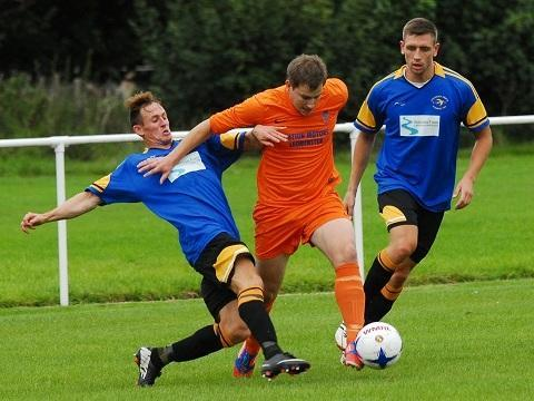 Aaron Morgan in action for Wellington against Stourport Swifts.