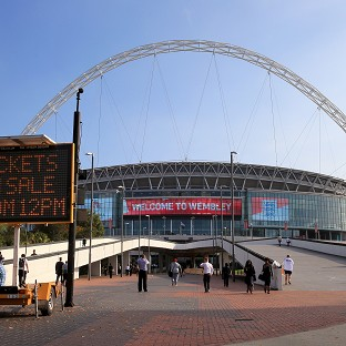 The friendly against norway attracted Wembley's lowest crowd