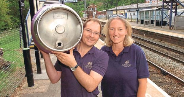 Anthony and Kate Stephens from Ledbury Real Ales.