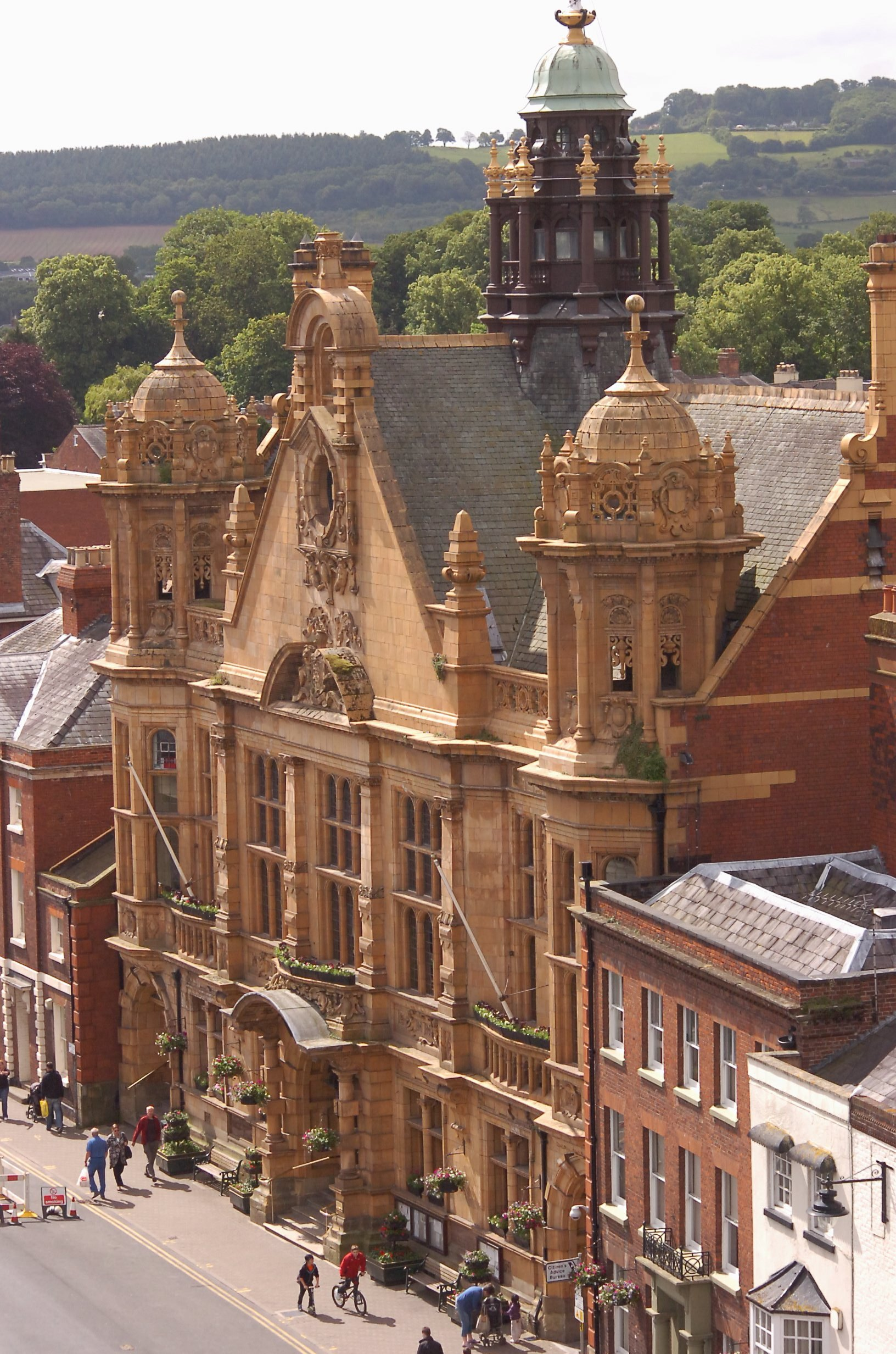Hereford Town Hall, where inquests take place.
