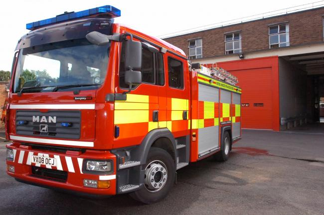 Fire crews are at the scene of an engine fire near Eardisley..