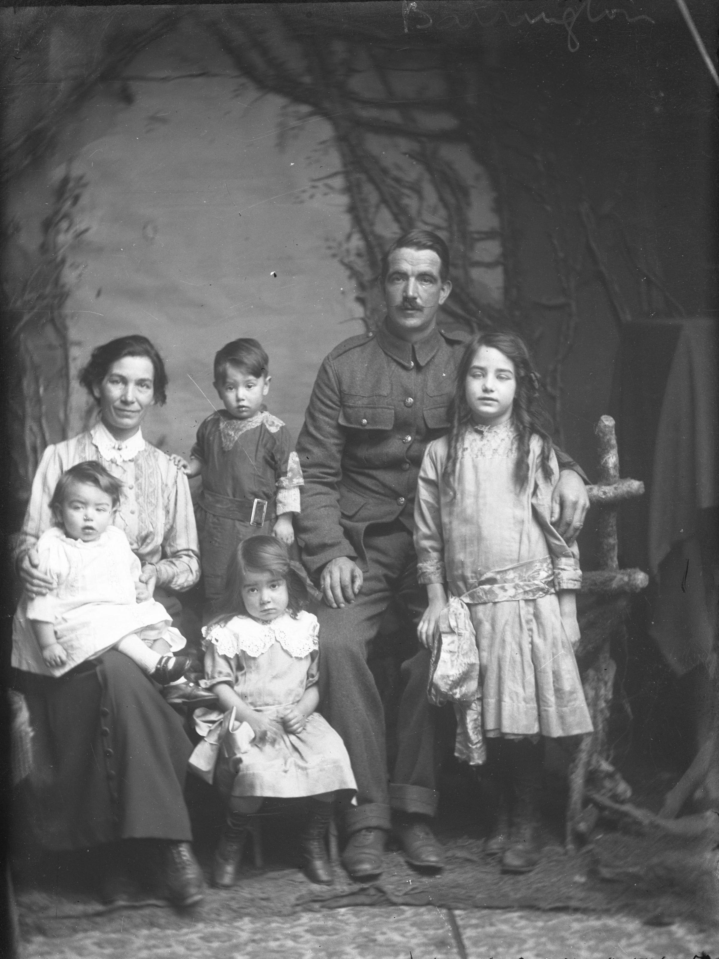 A wartime family portrait by T.H Winterbourn. Photo: Leominster Museum.