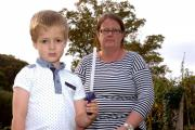 Jacob Pridham had a glow stick sword which exploded in his face. His mum Mandy wants to warn other parents. 1443_6001 (11696029)