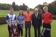 Ross GC'sJuniors Open (from left) Brad Knapper, Sophie Price, assistant professional Paul Finch, president Neville Ovens and Max Coleman.