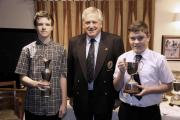 Herefordshire Golf Club: Harrison Gobey winner of the nett on the left and Declan Kinsellagross winner on the right and centre Dave Gwynne