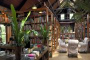 The Seren stand at Booth's Bookshop in Hay-on-Wye