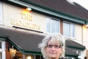 Tina Carey, landlady of the Broadley's on Ross Road, Hereford which may be turned into a Co-op. 1503_20001