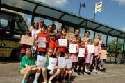Ivington Primary School pupils were among those campaigning against changes to their bus service last year. A meeting will be held next week to discuss the existing situation