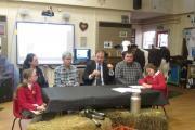 MP Jesse Norman fields questions during his visit to Madley Primary School