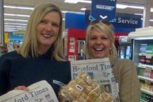 Free hot cross buns when your buy your Hereford Times at Tesco in Hereford Bewell Street