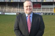 Hereford FC chairman Jon Hale. His side will face FC United of Manchester at Edgar Street on Saturday, July 18