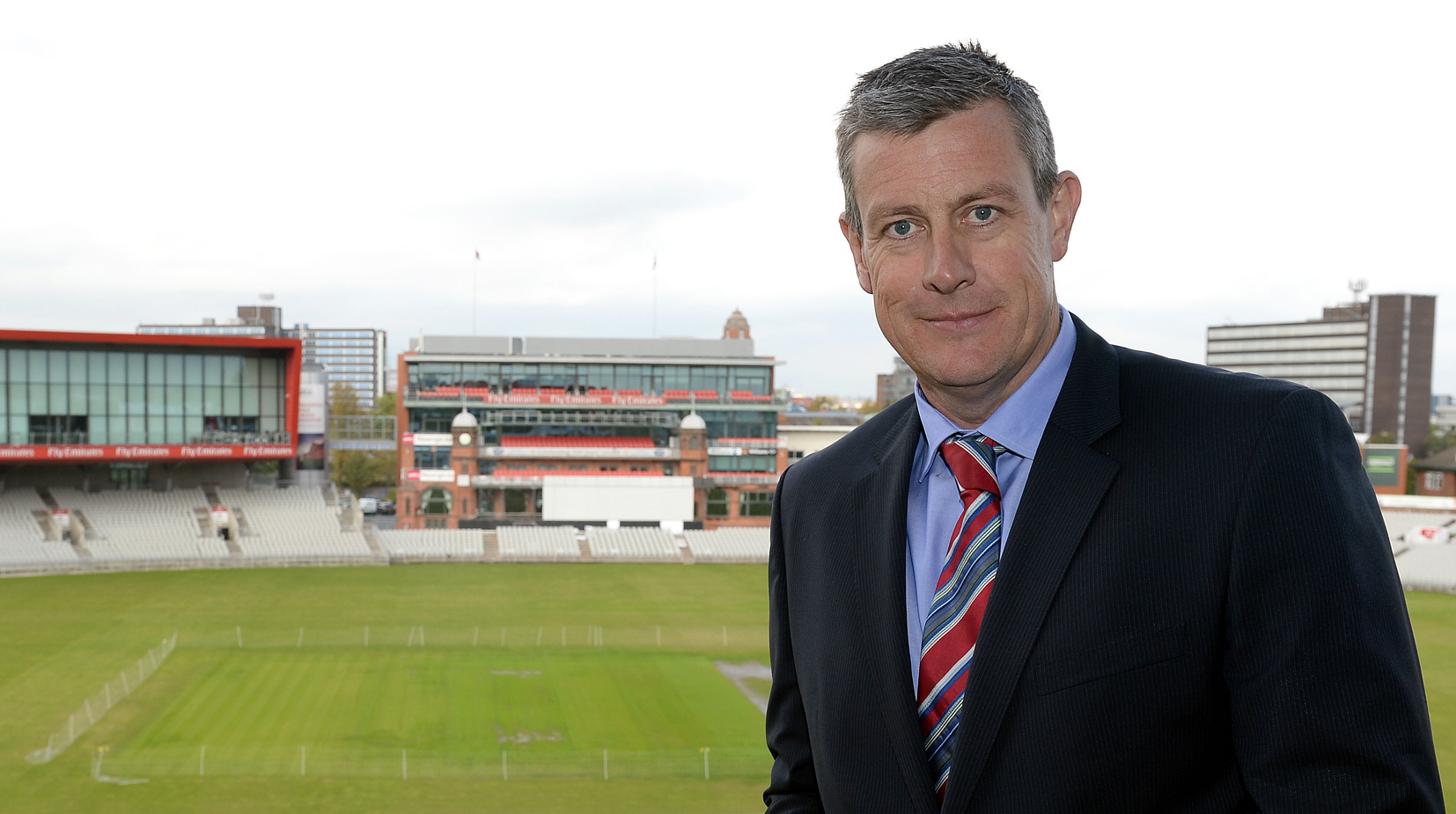 Ashley Giles, pictured at Old Trafford Cricket Ground, Lancashire..